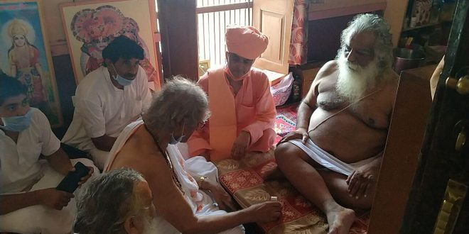 Mahant of Rajgarh gave 1 kg of silver in the foundation stone of Ram temple