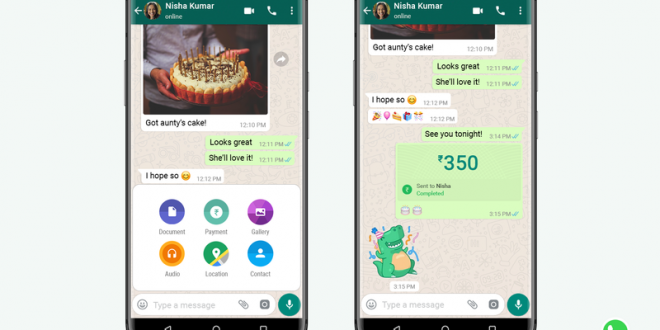WhatsApp introduced Payments feature in India