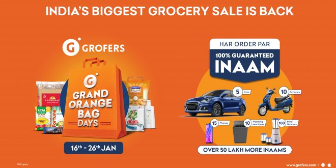 The fifth edition of the Grofers' Grand Orange Bag Days Sale