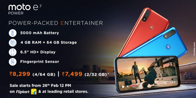 Motorola launches Moto E7