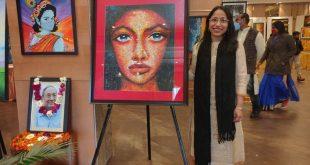 कोरोना डिप्रेशन फ्री पेंटिंग प्रदर्शनी का उदघाटन